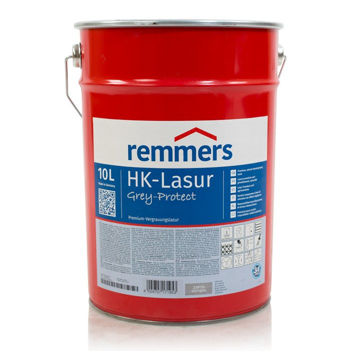 remmers hk lasur grey protect 10 l holzlasur holzschutz platingrau platingrau tytu sklepu. Black Bedroom Furniture Sets. Home Design Ideas