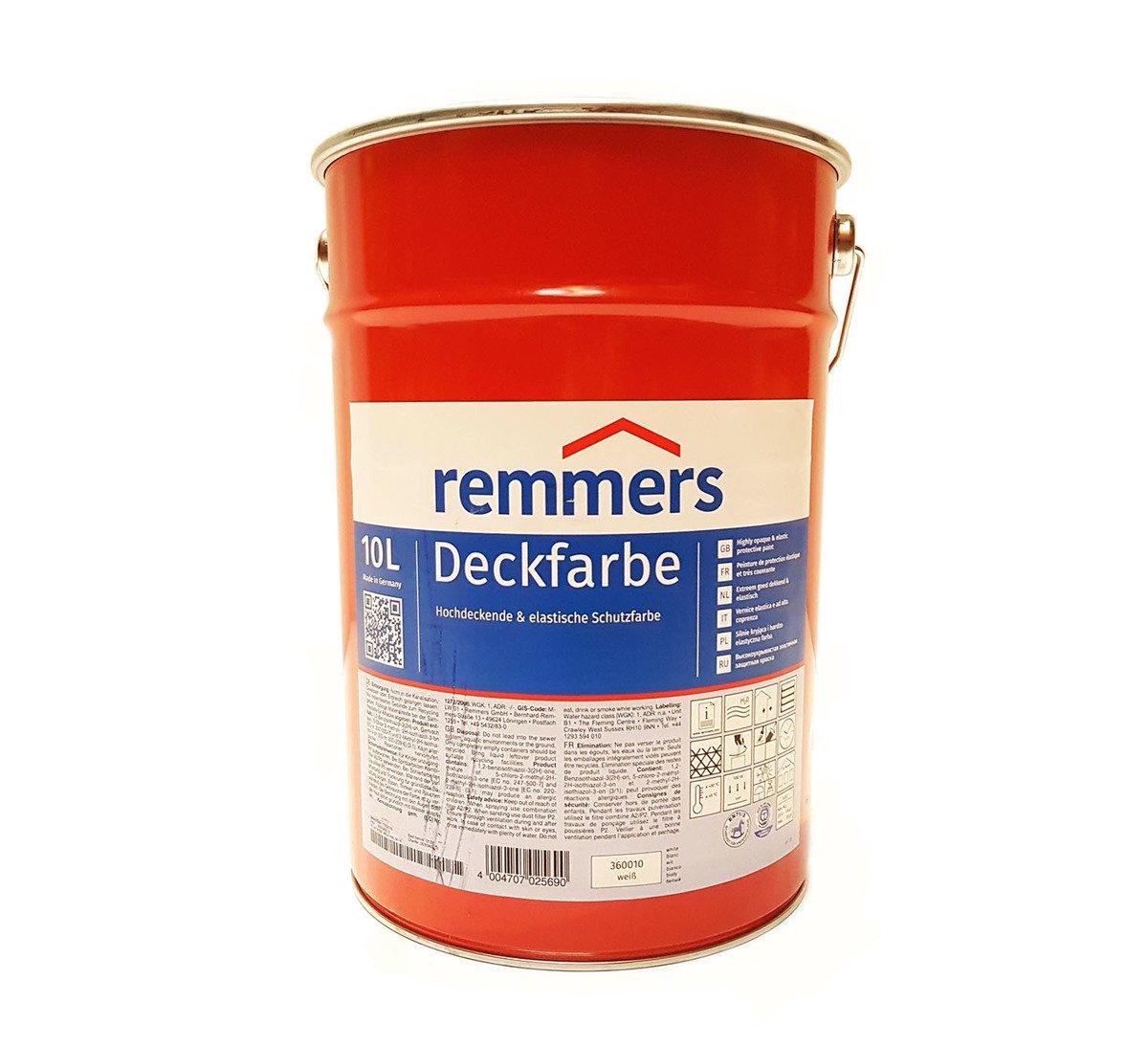 remmers aidol deckfarbe 10 l protection contre les intemp ries couleur blanche ral 9016 ebay. Black Bedroom Furniture Sets. Home Design Ideas