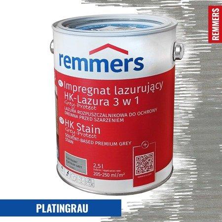 remmers hk lasur grey protect 2 5 l platynowoszary. Black Bedroom Furniture Sets. Home Design Ideas