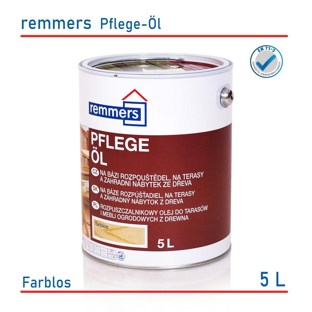 remmers pflege Öl 5 l holzöl terrassenöl gartenmöbelöl alle farben